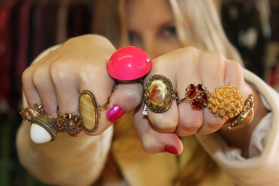 girls from the park resale shop vintage rings
