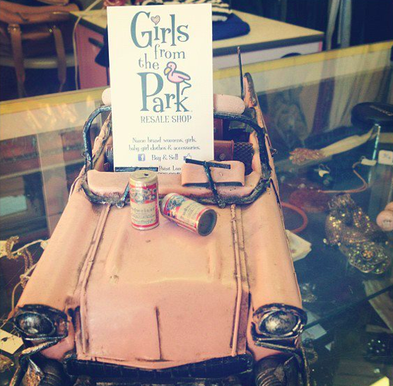pink car girls from the park resale shop